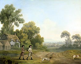 George Stubbs | Two Gentlemen Going a Shooting, 1768 | Giclée Canvas Print