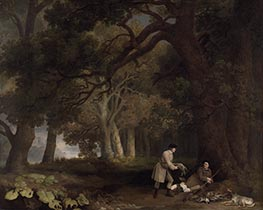 George Stubbs | A Repose after Shooting, 1770 | Giclée Canvas Print