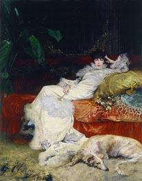 Portrait of Sarah Bernhardt, 1876 by Georges Jules Victor Clairin | Giclée Canvas Print