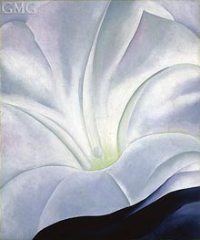 O'Keeffe | Morning Glory with Black | Giclée Canvas Print