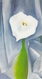 O'Keeffe   Calla Lilly on Grey   Giclée Canvas Print