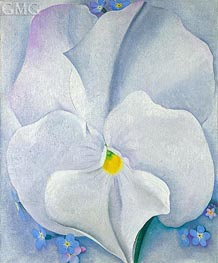 O'Keeffe | White Pansy (Pansy with Forget-me-nots), 1927 | Giclée Canvas Print