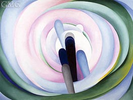 O'Keeffe | Grey Blue and Black - Pink Circle, 1929 | Giclée Canvas Print