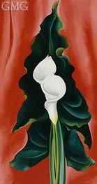 O'Keeffe | Calla Lilies on Red, 1928 | Giclée Canvas Print