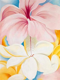 Hibiscus with Plumeria, 1939 by O'Keeffe | Giclée Canvas Print