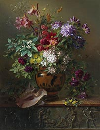 Georgius van Os | Still Life with Flowers in a Greek Vase: Allegory of Spring, 1817 | Giclée Canvas Print
