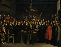 Gerard ter Borch | The Ratification of the Treaty of Munster, 15 May 1648, 1648 | Giclée Canvas Print