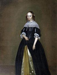 Gerard ter Borch | Portrait of a Young Lady, c.1665/70 | Giclée Canvas Print