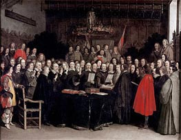 Gerard ter Borch | The Ratification of the Treaty of Munster, 1648 | Giclée Canvas Print