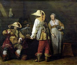 Gerard ter Borch | Interior of an Inn, 1636 | Giclée Canvas Print