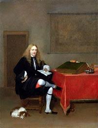 Gerard ter Borch | Portrait of a Man in his Study, c.1668/69 | Giclée Canvas Print