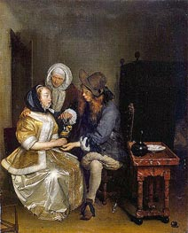 Gerard ter Borch | The Glass of Lemonade, c.1660 | Giclée Canvas Print