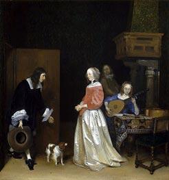 Gerard ter Borch | The Suitor's Visit, c.1658 | Giclée Canvas Print