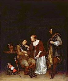 Gerard ter Borch | The Sleeping Soldier, c.1656/57 | Giclée Canvas Print