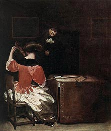 Gerard ter Borch | Music Lesson, Undated | Giclée Canvas Print
