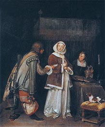 Gerard ter Borch | The Refused Letter, Undated | Giclée Canvas Print