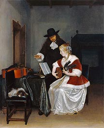Gerard ter Borch | The Music Lesson, c.1668 | Giclée Canvas Print