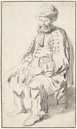 Gerbrand van den Eeckhout | A Seated Man in Middle Eastern Costume, 1646 | Giclée Paper Print
