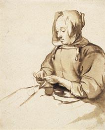 Gerbrand van den Eeckhout | Woman Doing Handwork, c.1655 | Giclée Paper Print