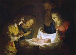 Gerrit van Honthorst | Adoration of the Child, c.1620 | Giclée Canvas Print