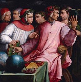 Giorgio Vasari | Portrait of Six Tuscan Poets, 1544 | Giclée Canvas Print