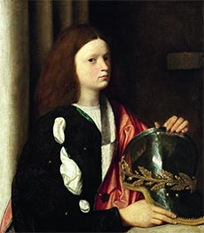 Portrait of a Boy with Helmet, c.1502 by Giorgione | Giclée Canvas Print