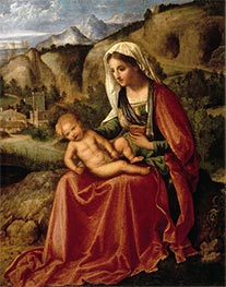 The Virgin and the Child in a Landscape, c.1503 by Giorgione | Giclée Canvas Print