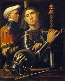 Gattamelata. Man in Armor with a Squire, c.1501/02 by Giorgione | Giclée Canvas Print