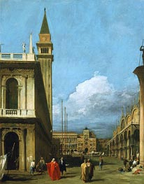 Canaletto | Piazzetta Towards the Torre dell'Orologio | Giclée Canvas Print