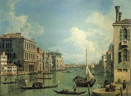 Canaletto | Grand Canal Near the Campo San Vio, c.1730 by | Giclée Canvas Print