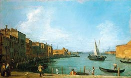 Canaletto | The Canale di Santa Chiara Looking North Towards the Lagoon | Giclée Canvas Print
