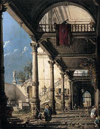 Canaletto | Capriccio with Colonnade in the Interior of a Palace | Giclée Canvas Print