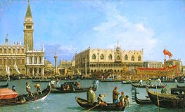 Canaletto | The Bacino di San Marco on Ascension Day | Giclée Canvas Print