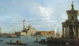 Canaletto | Venice: The Molo towards the Dogana and St. Maria della Salute | Giclée Canvas Print