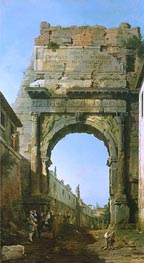 Canaletto | Rome: The Arch of Titus | Giclée Canvas Print
