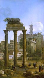 Canaletto | Rome: The Ruins of the Forum looking towards the Capitol | Giclée Canvas Print