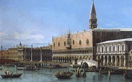 Canaletto | Venice: The Molo with the Prisons and the Doges' Palace | Giclée Canvas Print