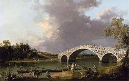 Canaletto | Old Walton Bridge over the Thames | Giclée Canvas Print