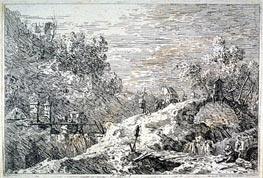 Canaletto | Landscape With Three Bridges | Giclée Paper Print