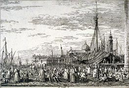Canaletto | The Market on the Molo | Giclée Paper Print