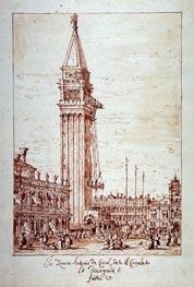 Canaletto | Piazzetta with Campanile under Construction | Giclée Paper Print