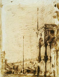 Canaletto | The Piazza Looking North-West with the Narthex of San Marco | Giclée Paper Print