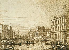 Canaletto | A View on the Lower Reaches of the Grand Canal | Giclée Paper Print
