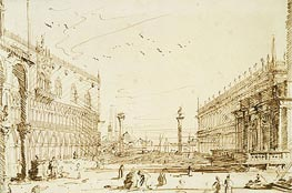 Canaletto | The Piazzetta Looking South | Giclée Paper Print