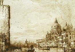 Canaletto | The Lower Reach of the Grand Canal, Looking East | Giclée Paper Print