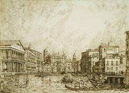 Canaletto | The Lower bend of the Grand Canal, Looking North | Giclée Paper Print