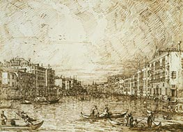 Canaletto | The Central Stretch of the Grand Canal | Giclée Paper Print
