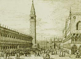 Canaletto | The Piazzetta Looking North | Giclée Paper Print