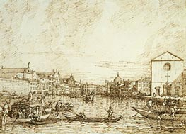 Canaletto | The Grand Canal Looking East from the Fondamenta della Croce | Giclée Paper Print