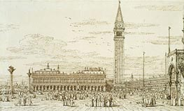 Canaletto | The Libreria, Campanile and Piazzetta from the East | Giclée Paper Print